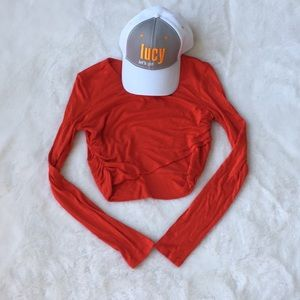 H&M Long sleeve cropped top US 6